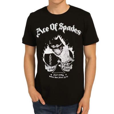 Bant Giyim - One Piece Ace Of Spades Siyah T-shirt