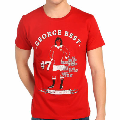 Bant Giyim - George Best Kırmızı T-shirt
