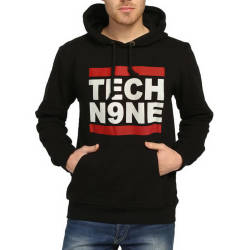 Bant Giyim - Tech Nine Siyah Hoodie - Thumbnail