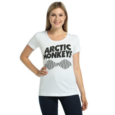 Bant Giyim - Arctic Monkeys Kadın Beyaz T-shirt