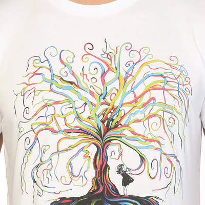 Bant Giyim - Wish Tree Beyaz T-shirt
