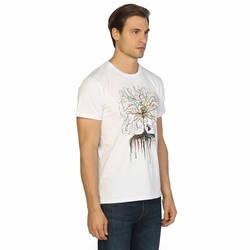 Bant Giyim - Wish Tree Beyaz T-shirt - Thumbnail