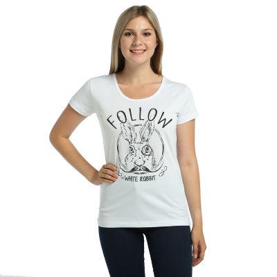 Bant Giyim - White Rabbit Kadın Beyaz T-shirt