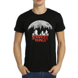 Bant Giyim - Bant Giyim - Stranger Things Siyah T-shirt