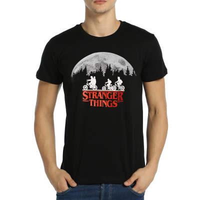 Bant Giyim - Stranger Things Siyah T-shirt