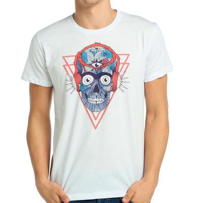 Bant Giyim - Stereo Skull Beyaz T-shirt
