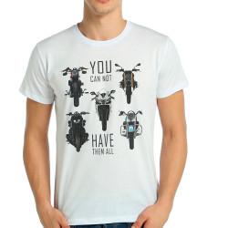 Bant Giyim - Bant Giyim - Motosiklet Have Them All Beyaz T-shirt