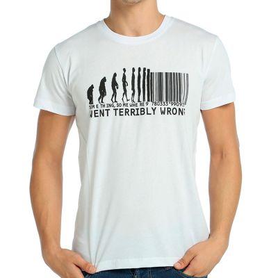 Bant Giyim - Bant Giyim - Evolution Of Barcode Beyaz T-shirt