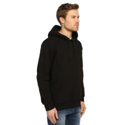 Bant Giyim - Basic Siyah Hoodie (3 iplik) - Thumbnail