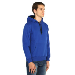 Bant Giyim - Basic Kobalt Mavi Hoodie (3 iplik) - Thumbnail