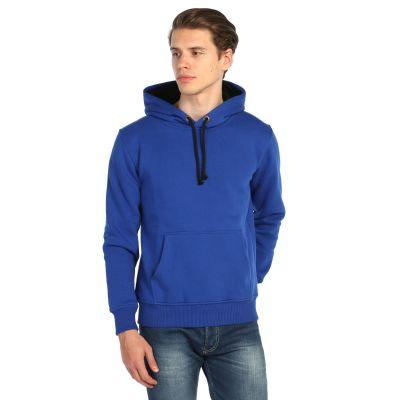 Bant Giyim - Basic Kobalt Mavi Hoodie (3 iplik)