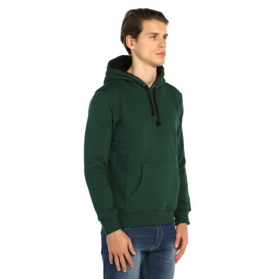 Bant Giyim - Basic Yeşil Hoodie (3 iplik)