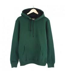 Bant Giyim - Basic Yeşil Hoodie (3 iplik) - Thumbnail