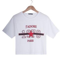J'adore Kadın Beyaz T-shirt - Thumbnail