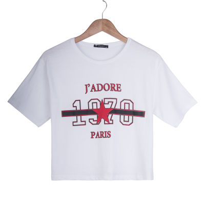 J'adore Kadın Beyaz T-shirt