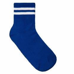 HollyHood - Beyaz Çizgili Mavi Çorap