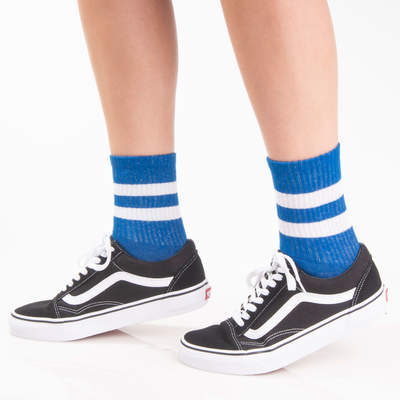 SA - Beyaz Çizgili Mavi Çorap