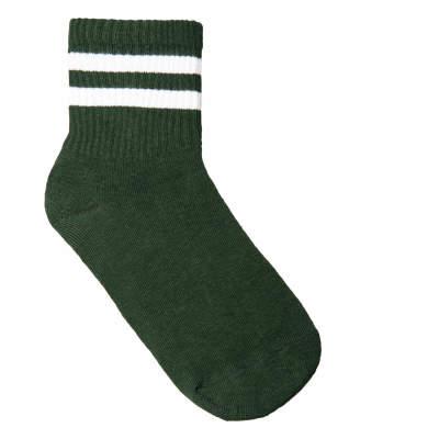 SA- Beyaz Çizgili Yeşil Çorap