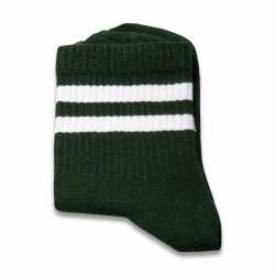 SA- Beyaz Çizgili Yeşil Çorap - Thumbnail