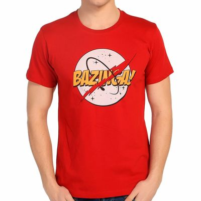 Bant Giyim - Bant Giyim - Big Bang Theory Bazinga Kırmızı T-shirt