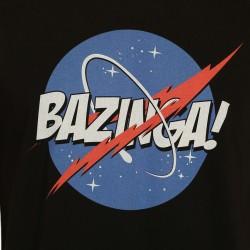 Bant Giyim - Big Bang Theory Bazinga Siyah T-shirt - Thumbnail