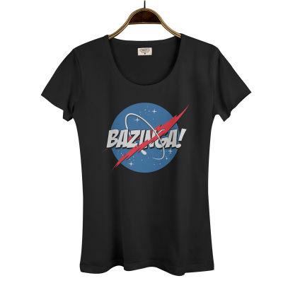 Bant Giyim - Big Bang Theory Bazinga Kadın Siyah T-shirt