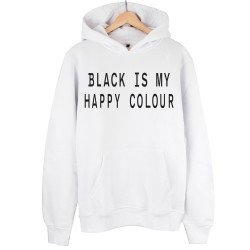 The Street Design - HH - Street Design My Happy Colour Beyaz Hoodie