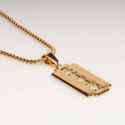 Blade HipHop Gold Kolye - Thumbnail