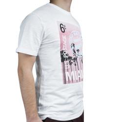 Blood Brother - Miami Air Mail Beyaz T-shirt - Thumbnail