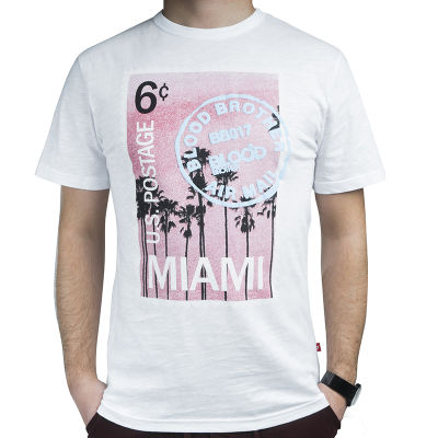 Blood Brother - Miami Air Mail Beyaz T-shirt