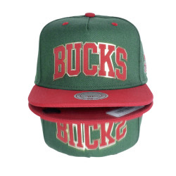 HollyHood - Bucks Red and Green Hip Hop Snapback Cap