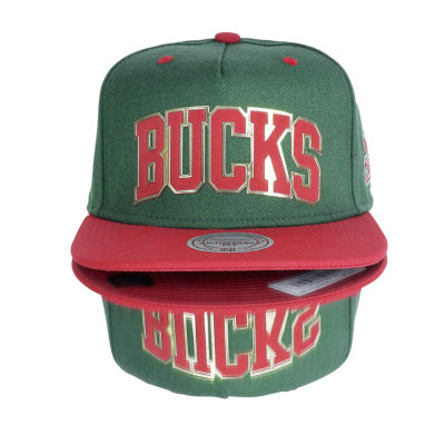 Bucks Red and Green Hip Hop Snapback Cap