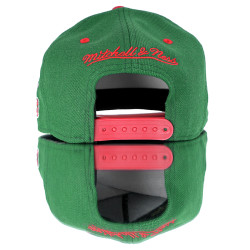 Bucks Red and Green Hip Hop Snapback Cap - Thumbnail