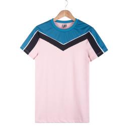HollyHood - Pembe Raglan T-shirt