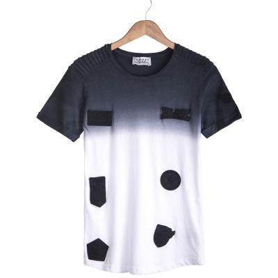 Celebry Tees - Lacivert & Beyaz Armalı T-shirt