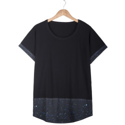HollyHood - Spot Long Fit Siyah T-shirt