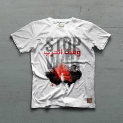Ceza - Ceza - Stop War Beyaz T-shirt