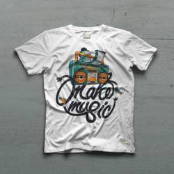 Ceza - Ceza - Tape Man Beyaz T-shirt