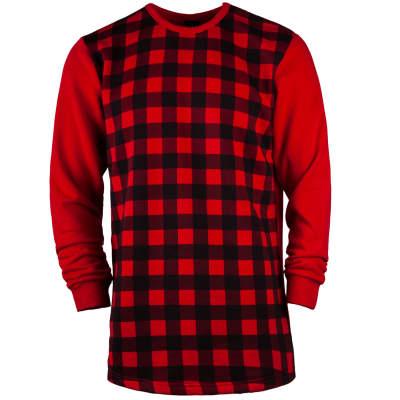 Hyper X - Checked Kırmızı Sweatshirt