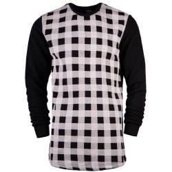 Hyper X - Checked Siyah Sweatshirt - Thumbnail