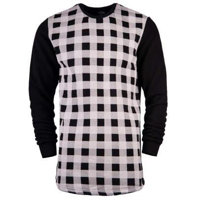 Hyper X - Hyper X - Checked Siyah Sweatshirt