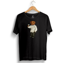 The Street Design - HH - Street Design Cheers Bear Siyah T-shirt