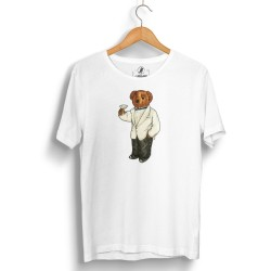 The Street Design - HH - Street Design Cheers Bear Beyaz T-shirt
