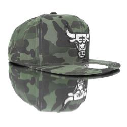 Chicago Bulls Camouflage Snapback Cap - Thumbnail