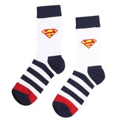 HollyHood - SA - Çizgili Süpermen Mavi Çorap