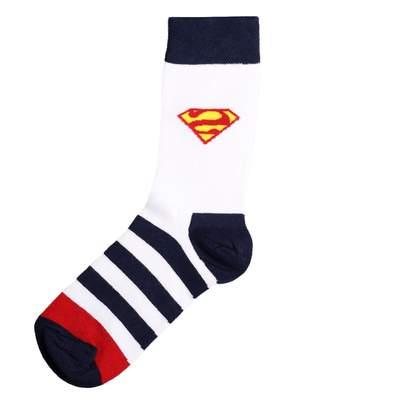 SA - Çizgili Süpermen Mavi Çorap