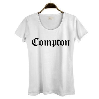 HollyHood - HH - Compton Kadın Beyaz T-shirt