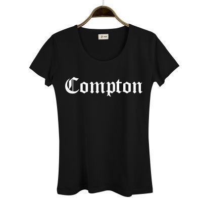 HH - Compton Kadın Siyah T-shirt
