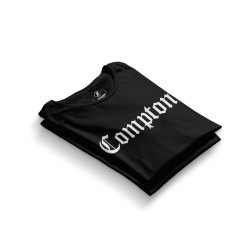 HH - Compton Siyah T-shirt - Thumbnail