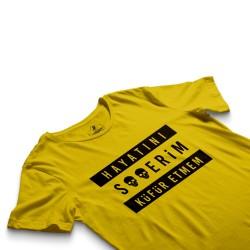 HH - Contra Hayatını S**erim Küfür Etmem Sarı T-shirt - Thumbnail